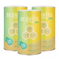 BEAVITA Vitalkost Plus, Caffè Latte, powder