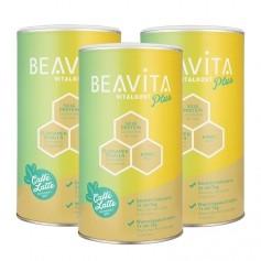 3 x BEAVITA Vitalkost Plus, Caffé Latte, Pulver