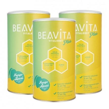 3 x BEAVITA Vitalkost Plus, Mango Lassi, Pulver