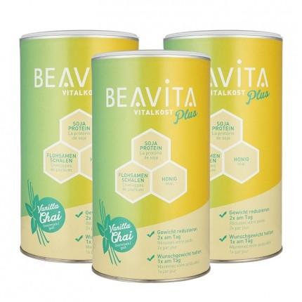 3 x BEAVITA Vitalkost Plus, Vanilla Chai, Pulver