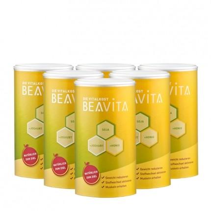 6 x BEAVITA Vitalkost, Pulver