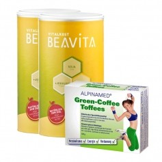 Beavita Green-Coffee-Diät: Doppelpack Vitalkost + Green-Coffee Toffees