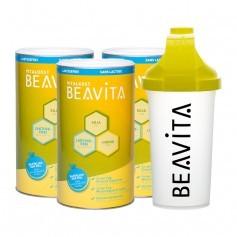 3 x BEAVITA Vitalkost laktosefrei mit Slim Shaker