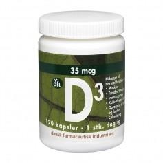 Berthelsen D3-vitamin 35 mcg, 120 kapsler