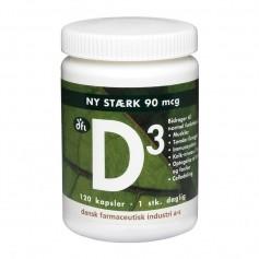 Berthelsen D3-vitamin 90 mcg, 120 kapsler