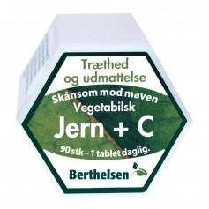 Berthelsen Naturlig Jern 27 mg + C-vit.