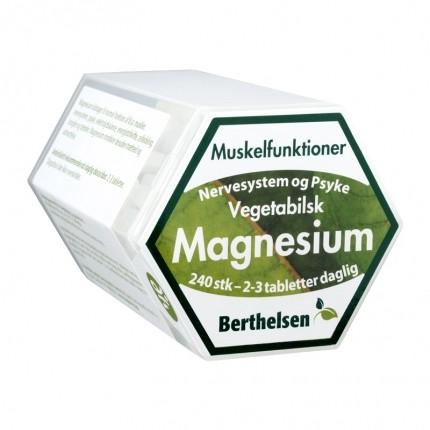 Berthelsen Naturlig Magnesium 150 mg, 240 kapsler