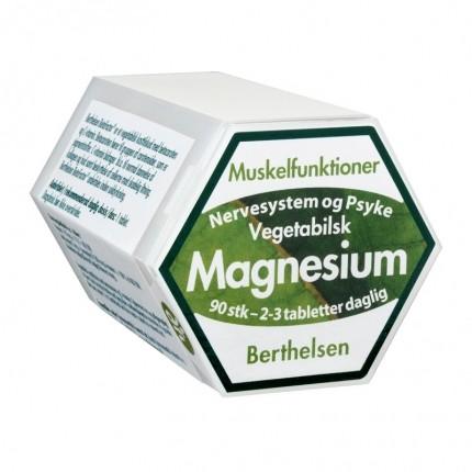 Berthelsen Naturlig Magnesium 150 mg, 90 kapsler