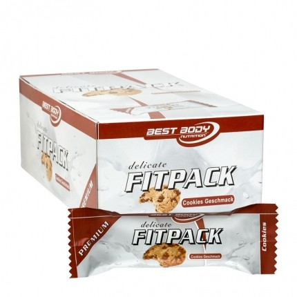 24 x Best Body Nutrition Delicate Fitpack Cookies Riegel