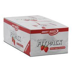 Best Body Nutrition, 24 x Delicate fitpack barre énergétique fraise