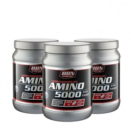 3 x Best Body Nutrition Hardcore Amino 5000 Tabletten