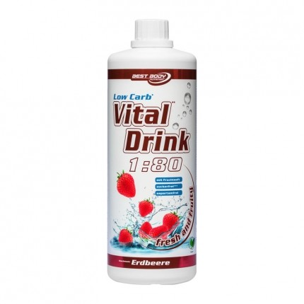 Best Body Nutrition Low Carb Vital Drink Erdbeere