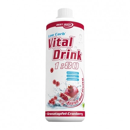 Best Body Nutrition Low Carb Vital Drink, Granatapfel-Cranberry