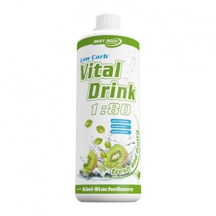 Best Body Nutrition Low Carb Vital Drink, Kiwi-Stachelbeere