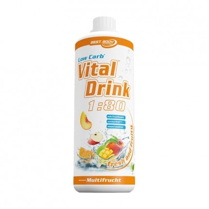 Best Body Nutrition Low Carb Vital Drink, Multifrucht
