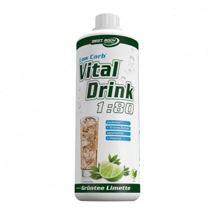 Best Body Nutrition Low Carb Vital Drink, Grüntee-Limette