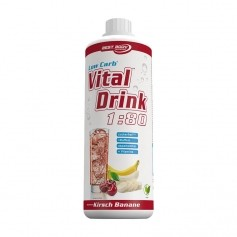 Best Body Nutrition Low Carb Vital Drink Cerise-Banane, Boisson