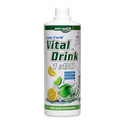 Best Body Nutrition, Vital Drink Low-carb, citron vert, boisson