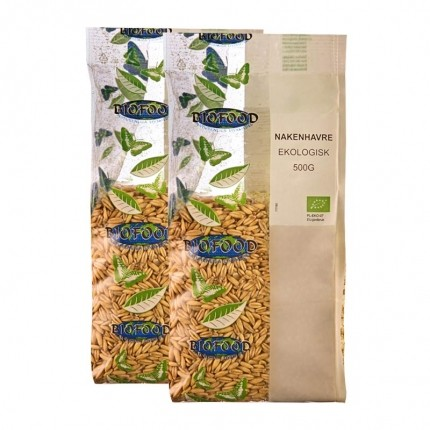 2 x Biofood Naken Havre Hel ØKO