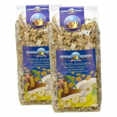 BioKing Bio Knusper Crunchy Kokos-Banane Müsli Doppelpack