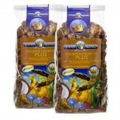 BioKing, Muesli bio crunchy et croquant Plus fibre, lot de 2