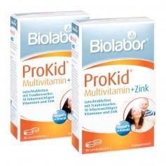 2 x Biolabor ProKid Multivitamin + Zink, 30 Lutschtabletten