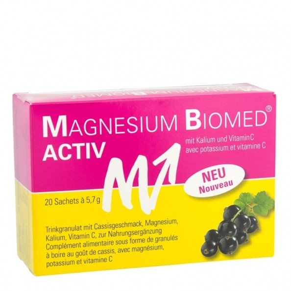Magnesium Biomed Activ 20 sachets - disponible chez nu3