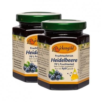 Birkengold Fruchtaufstrich, Heidelbeere (2 x 20...