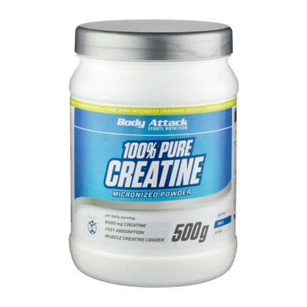 Body Attack 100% Pure Creatine, Pulver