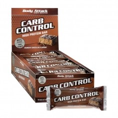 15 x Body Attack Carb Control Crunchy Chocolate, Riegel