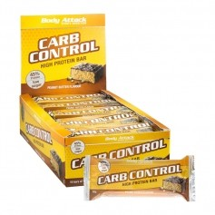 15 x Body Attack Carb Control Peanut Butter, Riegel