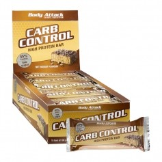 15 x Body Attack Carb Control Nut Nougat, Riegel