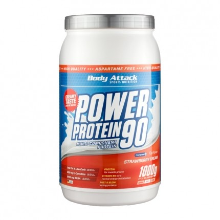 Body Attack Power Protein 90, Erdbeere, Pulver