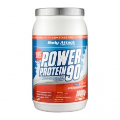 Body Attack, Power protein 90, fraise, poudre
