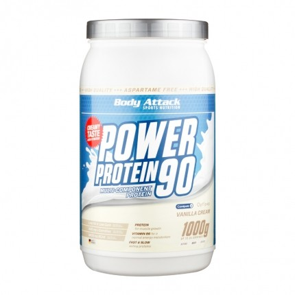 Body Attack Power Protein 90 Vanille, Pulver