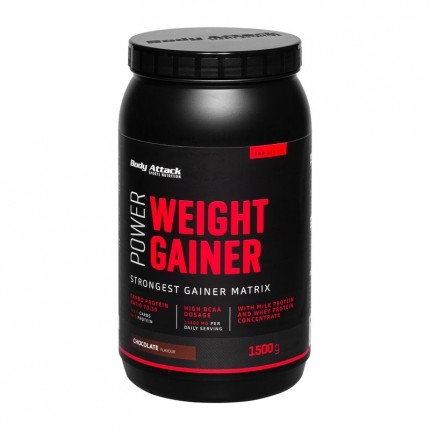 Body Attack Power Weight Gainer, Schokolade, Pulver (1500 g)