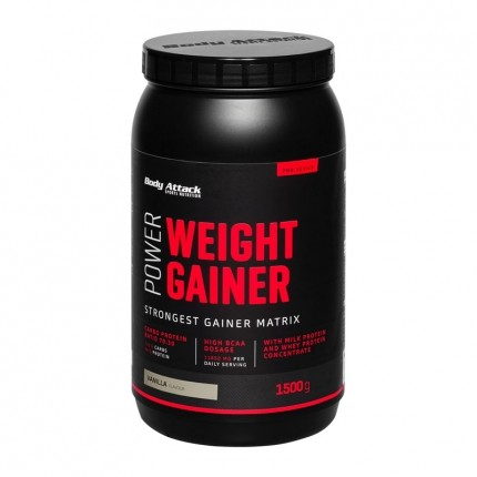 Body Attack Power Weight Gainer, Vanille, Pulver (1500 g)