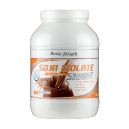 Body Attack Soja Isolate Shake, Schokolade, Pulver