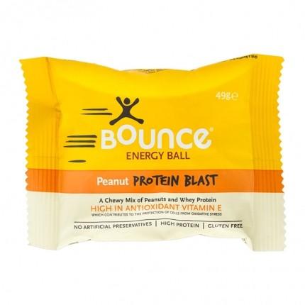4x Bounce -energiapallo, maapähkinä