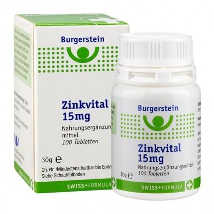 Burgerstein Zinc Vital 15 mg, Comprimés - nu3