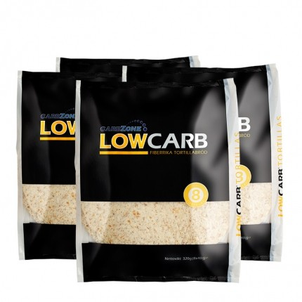 4 x Carbzone Low Carb Tortillas, Large