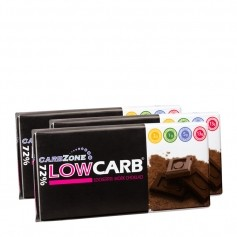 3 x CarbZone Low Carb -tummasuklaa 72 %