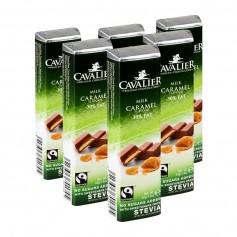 6 x Cavalier Stevia Light Riegel Caramel Milchschokolade