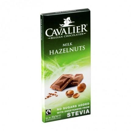 2 x Cavalier Stevia, melkesjokolade med hasselnøtter
