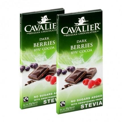 2 x Cavalier Stevia, mørk sjokolade med bær