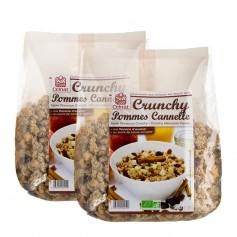 Celnat, Muesli Crunchy, pomme-cannelle, lot de 2