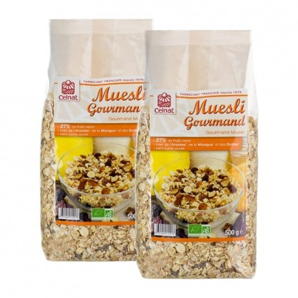 Celnat, Muesli gourmand bio, lot de 2
