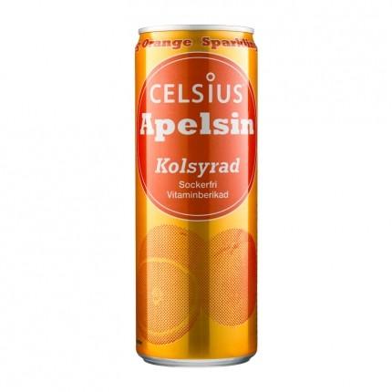 Celsius apelsin kolsyrad