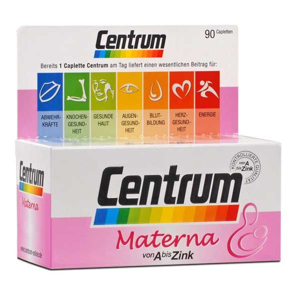 Centrum A-Zinc Materna tablets; pregnant and nursing mothers