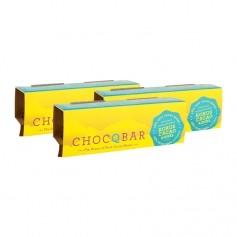 3 x ChocQlate Superfood Riegel Kokos Cacao pur